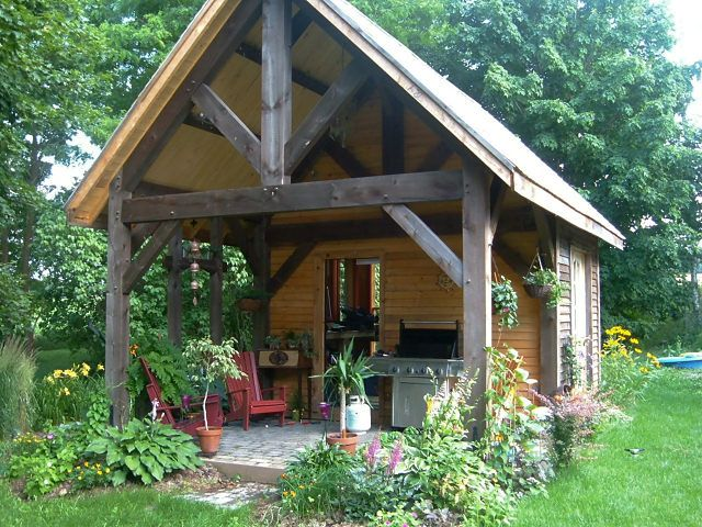 51 best images about timber framed structures on pinterest for Timber frame porch designs