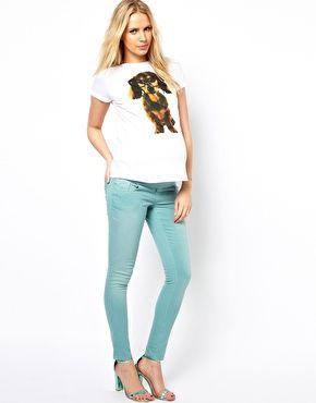 Immagine 4 di ASOS Maternity - Elgin - Jeans skinny verdi