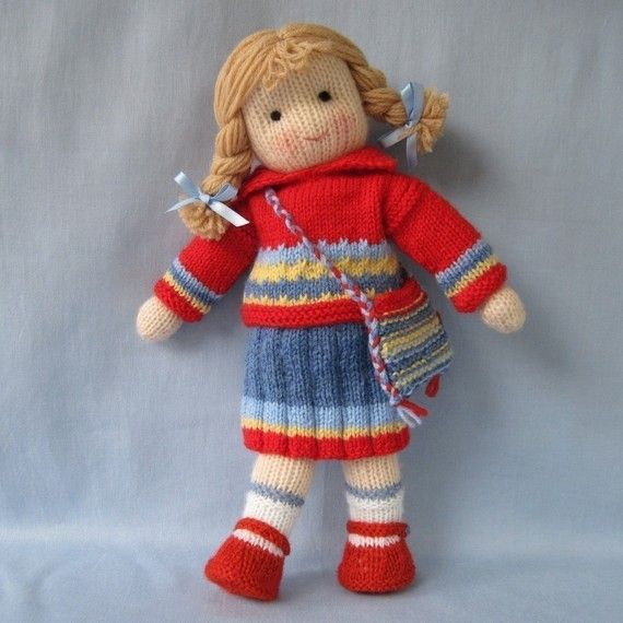 Tilly doll knitting pattern INSTANT DOWNLOAD by dollytime on Etsy