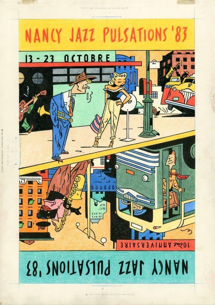 Nancy Jazz Pulsations '83. Affiche par Ever Meulen.