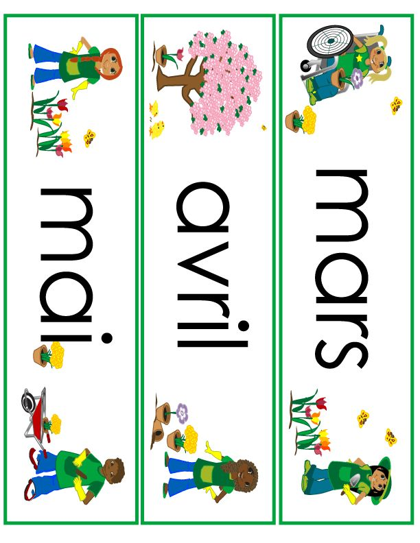 spring month word wall cards