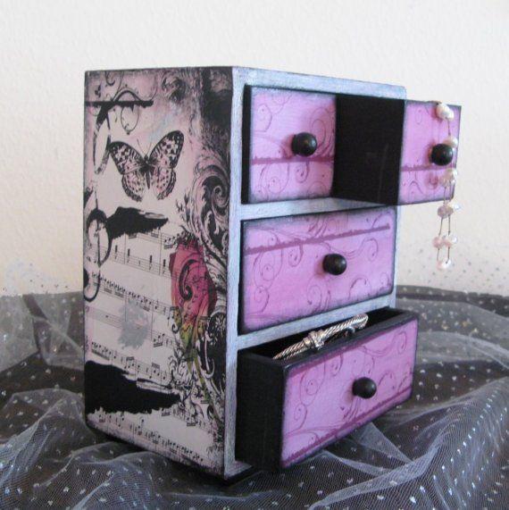 Jewelry Trinket Box Viennese Waltz Music by NandJDesigns on Etsy, $37.99