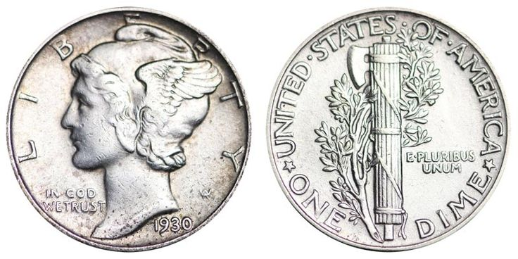 1930 Mercury Dimes Winged Liberty Silver Dime: Value and Prices