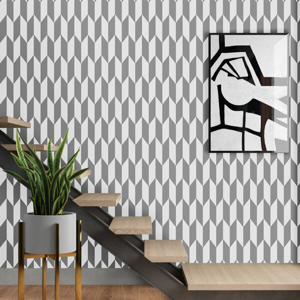 Wanda Arrow 33 L X 20 5 W Wallpaper Roll Peel And Stick Wallpaper White Pattern Wallpaper Wallpaper Roll