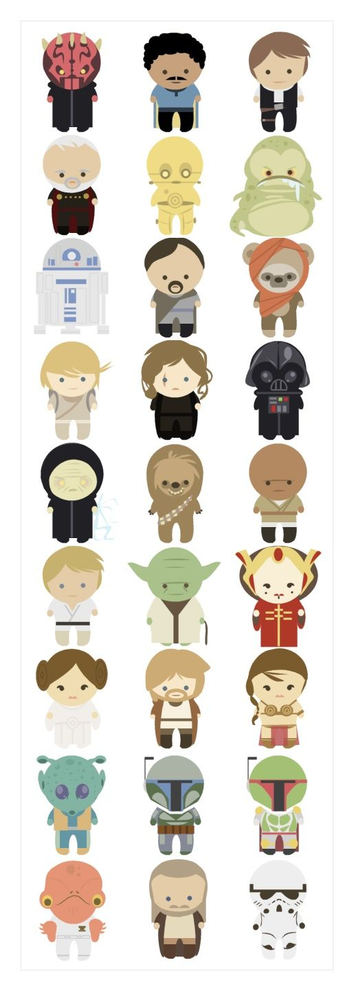 Adorable Star Wars. I'm think I may use these in a quilting project.