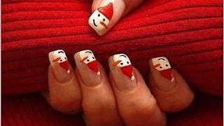 uñas decoradas de navidad paso a paso - YouTube