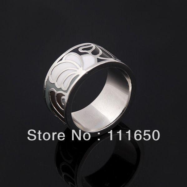 Широкий перо узор винтажный эмаль ювелирные изделия кольцо, 1 шт. / pack