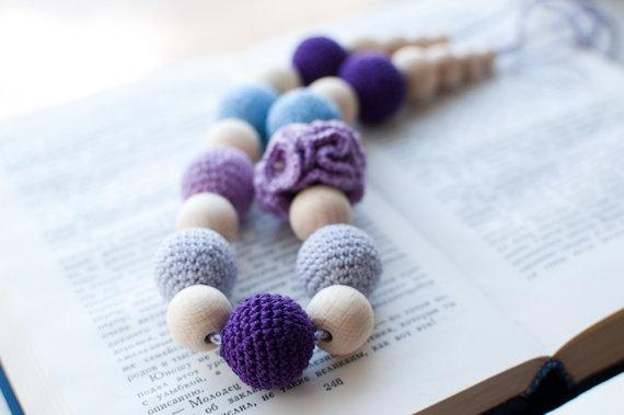 Nursing necklace / Teething necklace  Light blue by SvetlanaN, $26.00