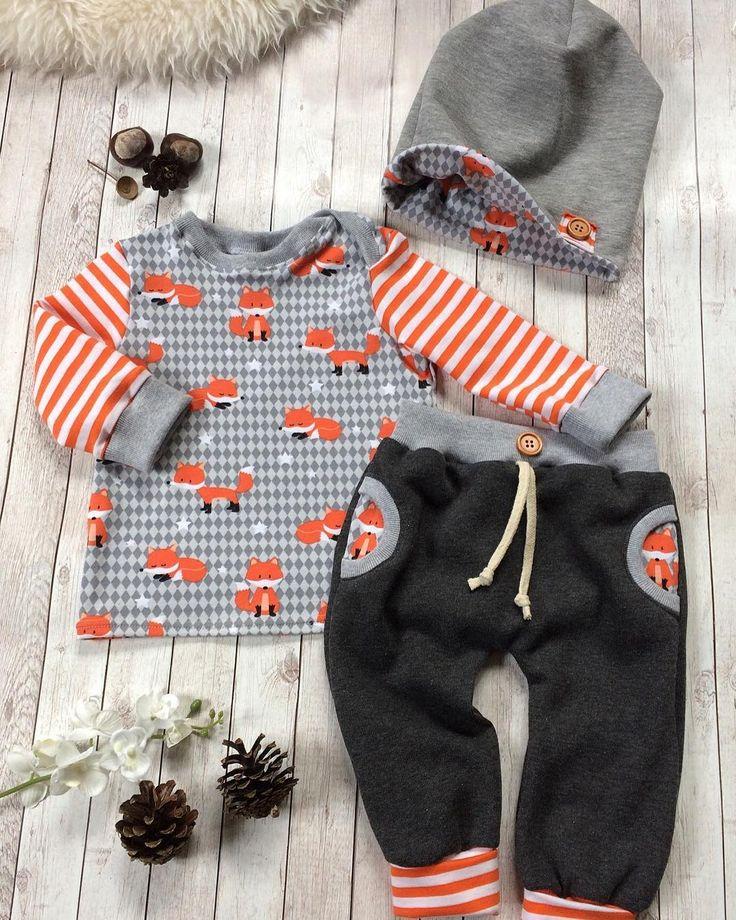VERKAUFT ‼️#frischgenäht#unikat#einmalig#zumverkauf#madeitmyself#handmade#nähen#herbst#herbstoutfit#nähenfürbabys#sewing#sewingforbaby#becreative#dowhatyoulove#babyoutfit#babyfashion#babyboy#baby2017#fashion#babyset#beanie#fuchs#füchse#streifen#stripes#orange#grau#größe68#➡️ bei Interesse bitte eine Nachricht per DM