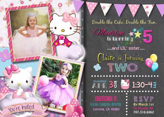 9 best birthday invitations images on pinterest birthday hello kitty invite birthday invitation joint by designtrunkinvites filmwisefo