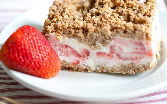 Mražený jahodový dort na léto