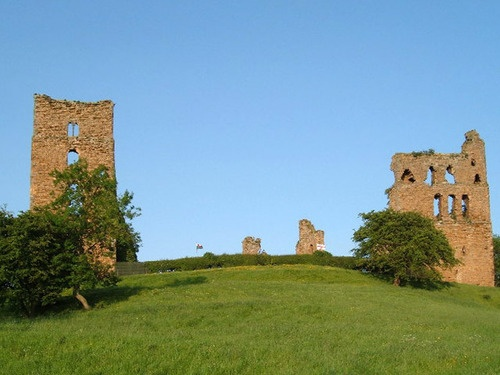 The ruins of Sheriff Hutton Castle in North Yorkshire, England, where Henry VIII's illegitimate son Henry FitzRoy was raised.