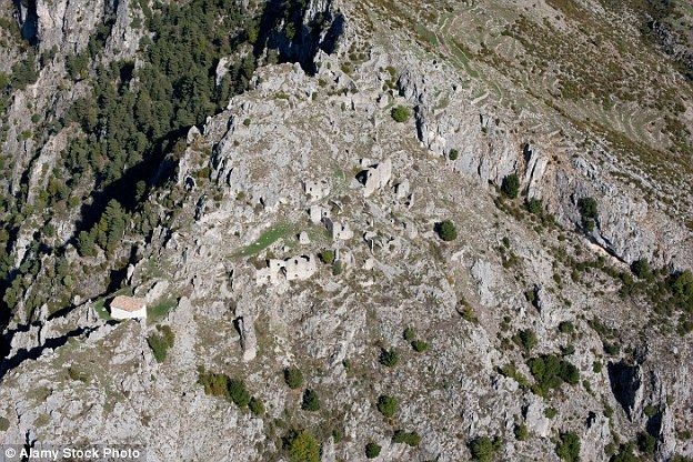 Rocca-Sparviera is perched on a rocky mountainside in the south of France and has a turbul...