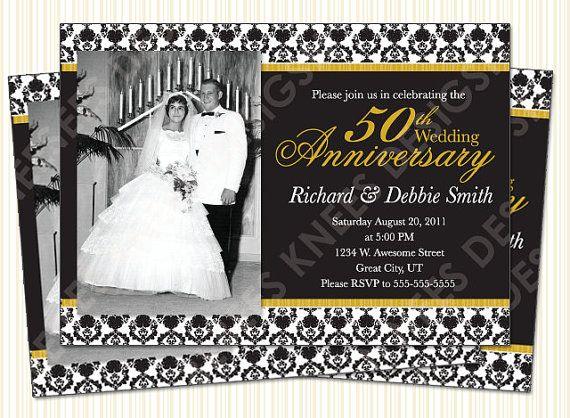 219 best 50th wedding images on Pinterest Bride dresses, Bridal - fresh invitation samples for 50th wedding anniversary