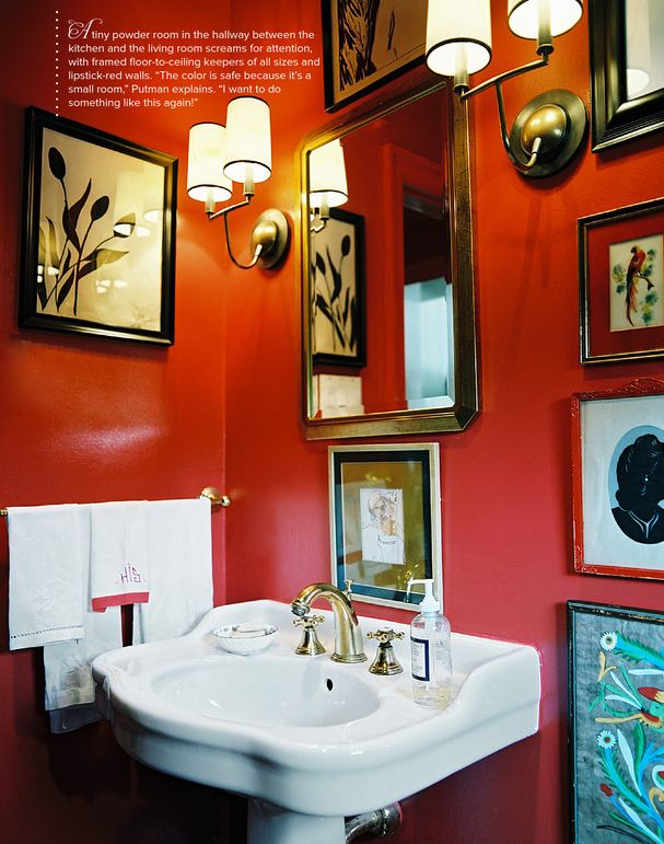 Small Bathroom Ideas Red 73 best display: art in the bathroom? images on pinterest | room