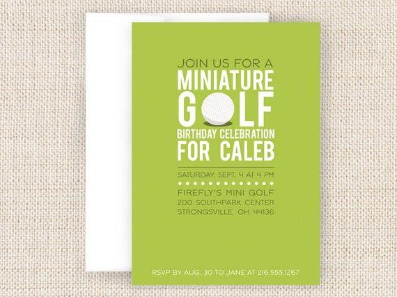 Mini Golf Party Invitation