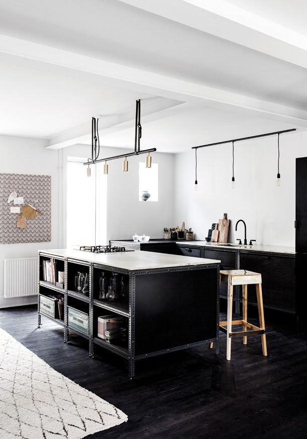 Black Industrial Kitchen By Frama