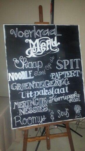 Voerkraal menu
