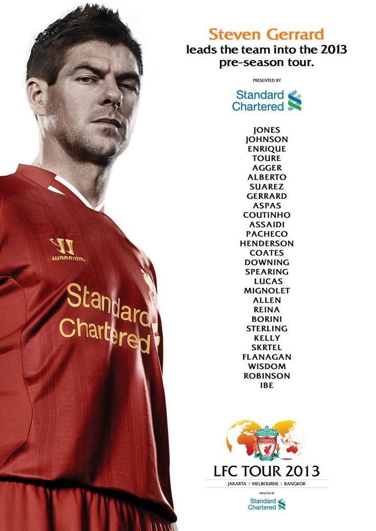 Brendan Rodgers names 28-man squad led by Steven Gerrard for #LFCtour