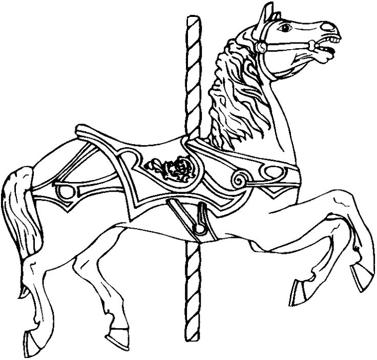 coloring pages of carousel zebra - photo#8