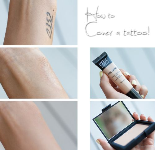How to cover up a tattoo.