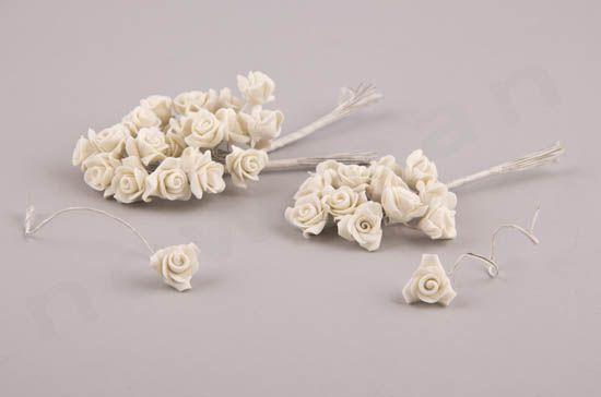 Πορσελάνινα λουλούδια με σύρμα | bombonieres.com.gr