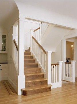 Image result for different styles of bottom step of staircase