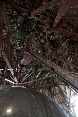 Épületfotó - az Iparművészeti Múzeum főkupolájának tetőszerkezete