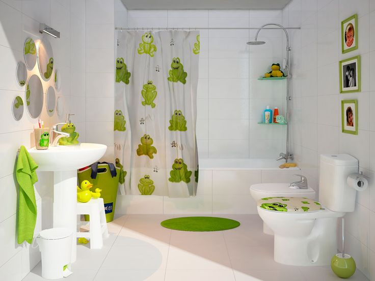Descubre cómo dar un aire infantil a tu baño ¿Te gusta esta idea?