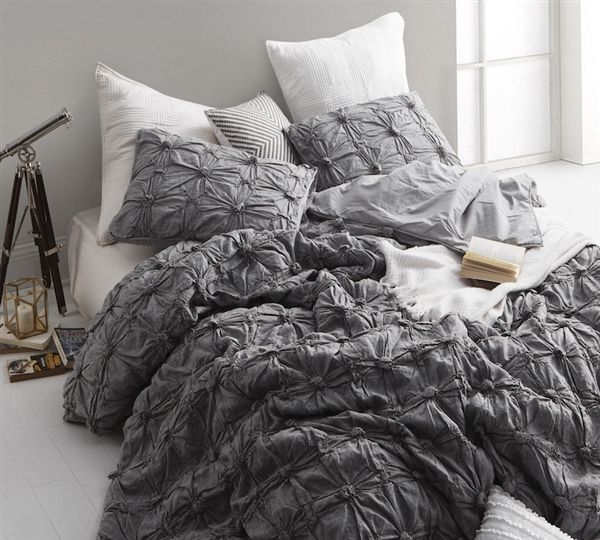 Featured Dark Gray Comforters Xl King Size Comforter Gray King