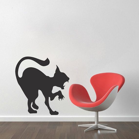 Best Halloween Images On Pinterest Wall Clings Wall Decal - Vinyl decal cat pinterest