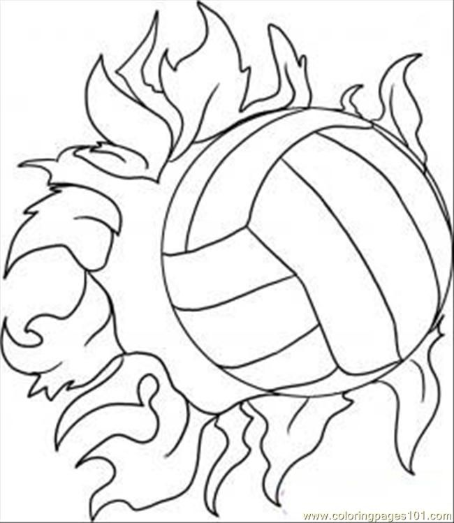 Line Drawing Net : Volleyball coloring pages for kids printable