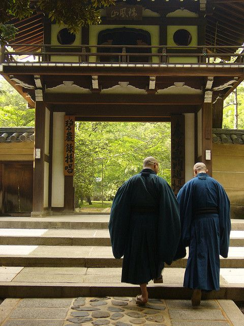 大徳寺の僧侶(京都) monks at Daitoku-ji temple, Kyoto, Japan
