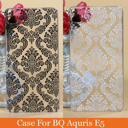 Бк Aquaris E5 чехол крышка мода пейсли старинные цветочный дизайн твердый переплет для бк E5 4 г издание