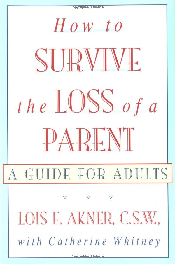 A very readable journey that follows adults of different ages as they struggle with losing a parent in different ways.