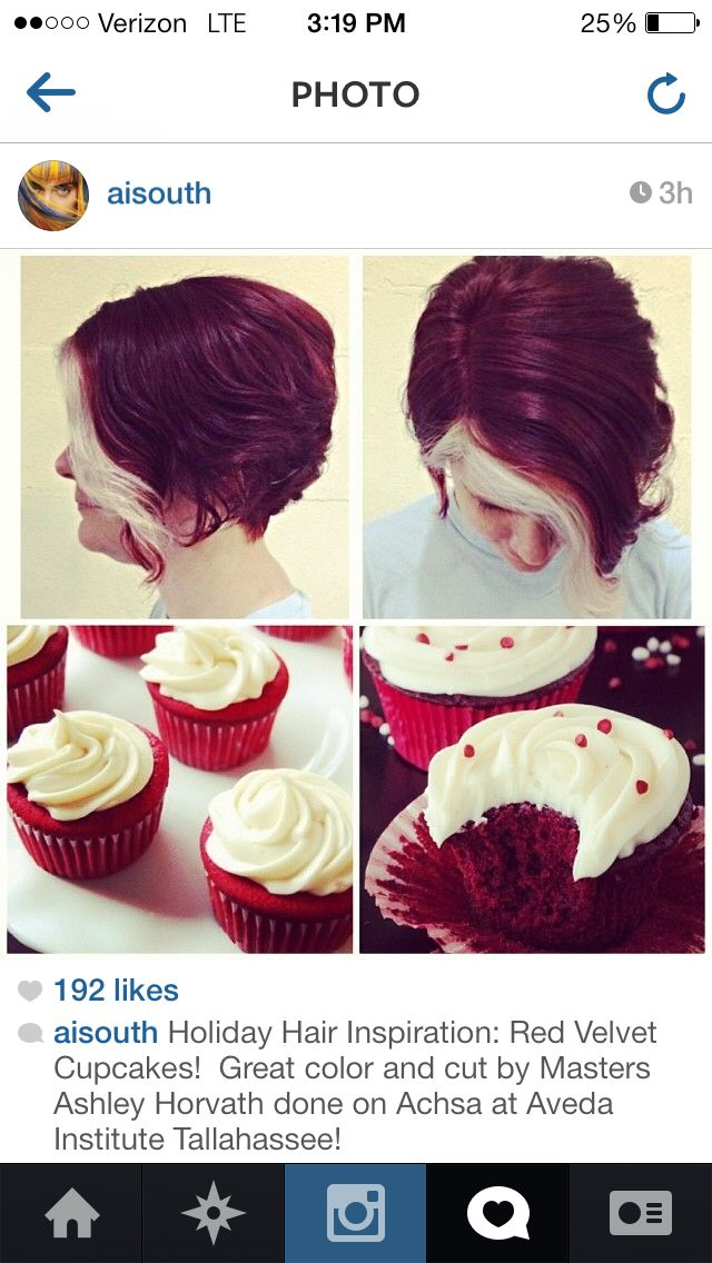 Color and Cut by Ave. Featured on Aveda Institute South's Instagram page.