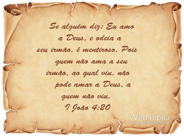1 João 4;20