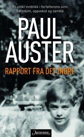 En indre reise mot et kjent mål. Paul Auster gir et unikt innblikk i en forfatters sinn, barndom, oppvekst og samtid.