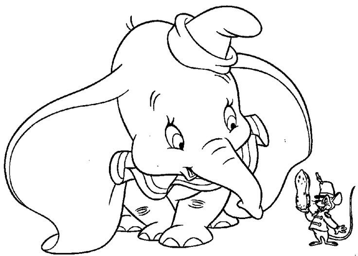 elephant with nuts coloring pages - photo#20
