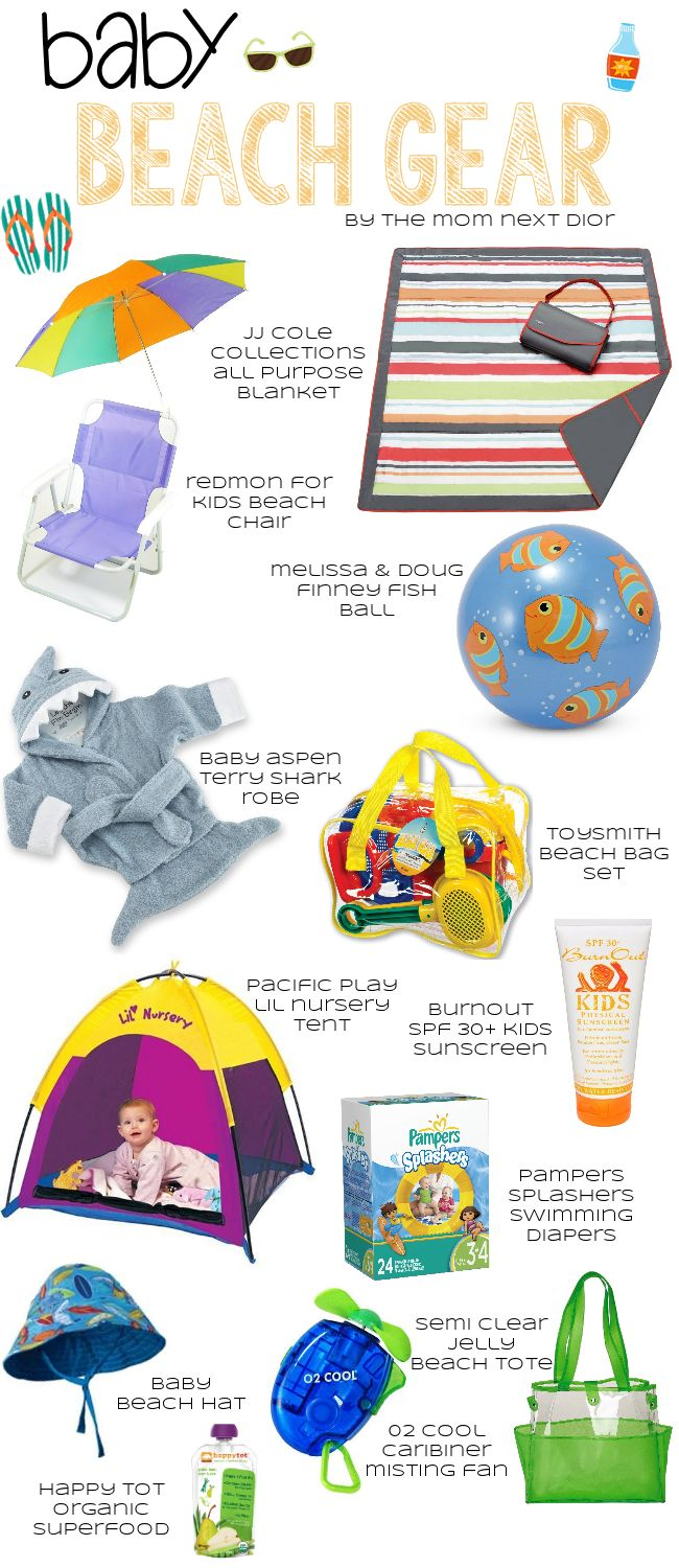 Summer Baby Beach Gear List..Perfect. Love Everything On Her Website.