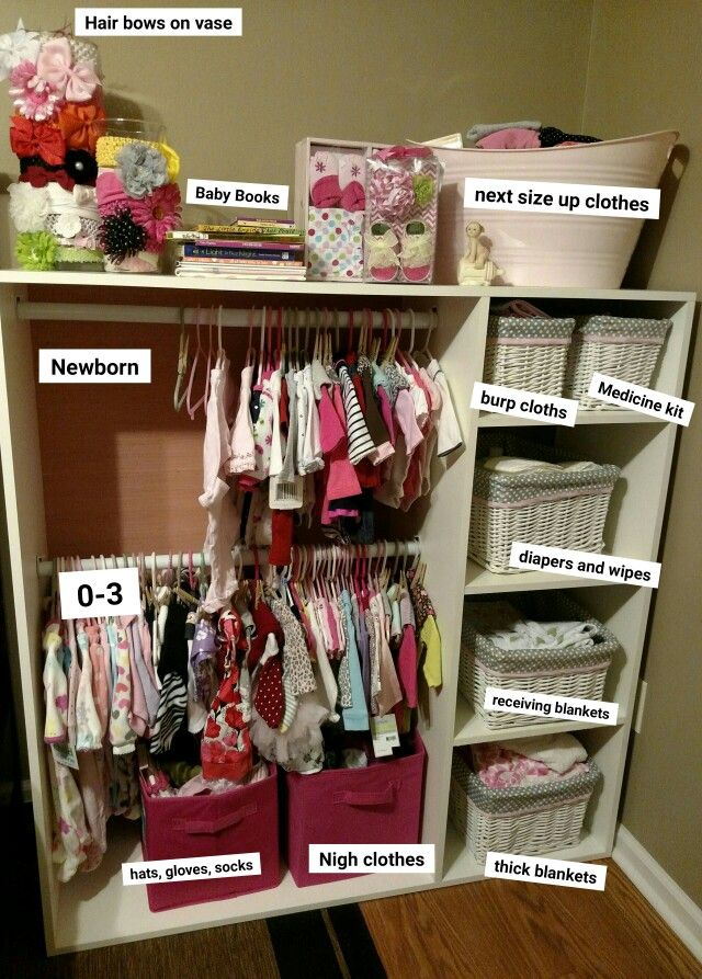 How to organize new born baby stuff in a one room town home/apartment.