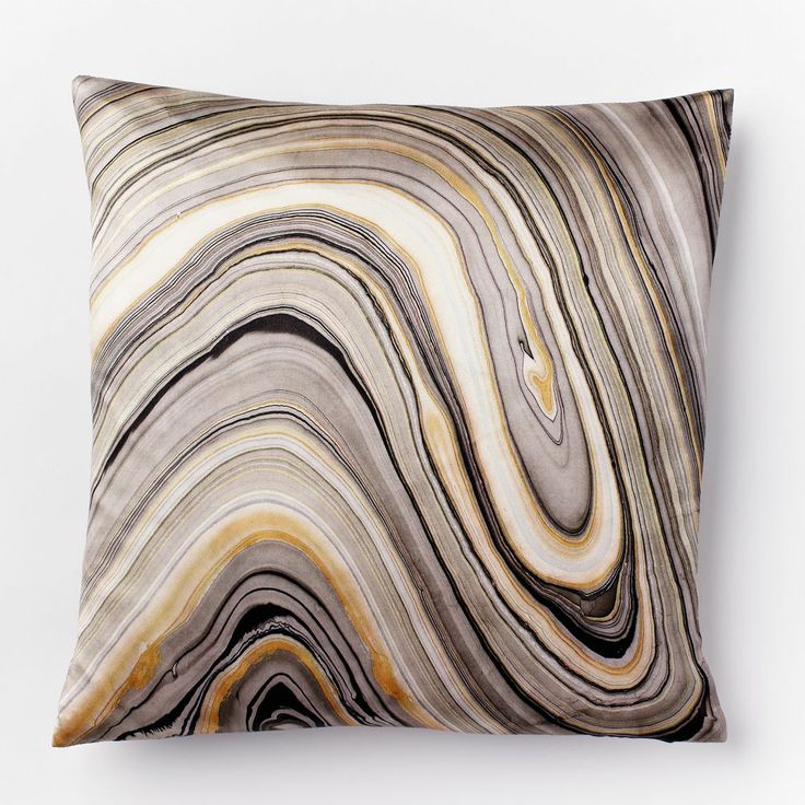 Marble Print Silk Pillow Cover Home Sweet Home