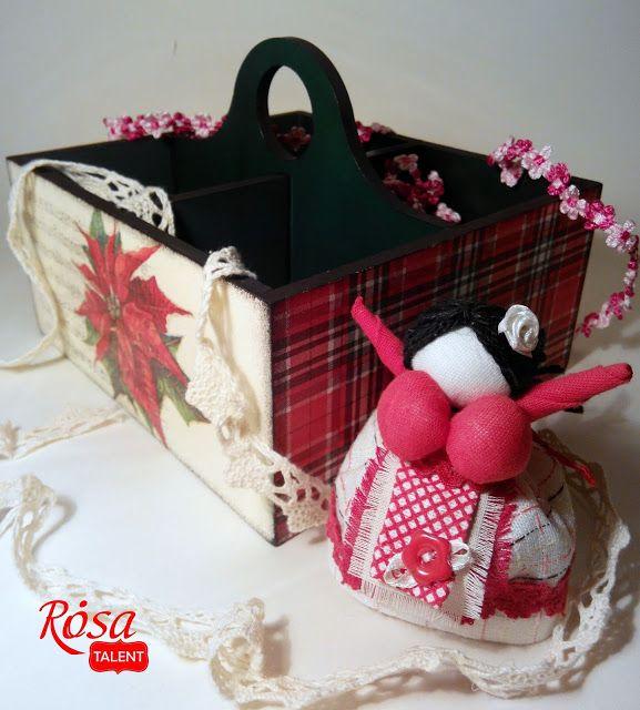 """ROSA TALENT: Натхнення """"Скринька для чаю"""" від Інни Луппи. Decoupage. Craft. Wooden decor. Декупаж. Коробка для чая.  Заготовки для творчества."""