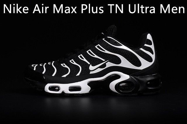Nike Air Max Plus TN Ultra Mens Running Trainers Shoes Black and White