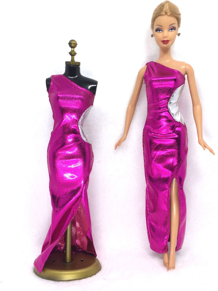 NK 2016 Newest Doll Dress Beautiful Handmade Party ClothesTop Fashion Dress For Barbie Noble Doll Best Child Girls'Gift 043A