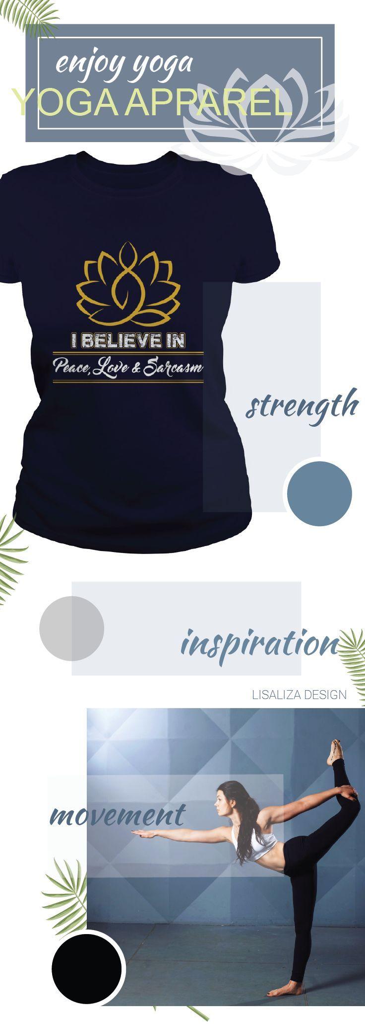 Yoga Love Shirt- I Believe In Peace, Love and Sarcasm Women Yoga TShirt / Ladies Tee.   #Fitness #Exercise #yoga # #yogadesign #chakra #yogalover #energy #inspiration #yogacasual #workout #inhale #exhale #breathe #meditation #women #fashion #Sunfrog #Lisaliza #giftideas #health #lifestyle