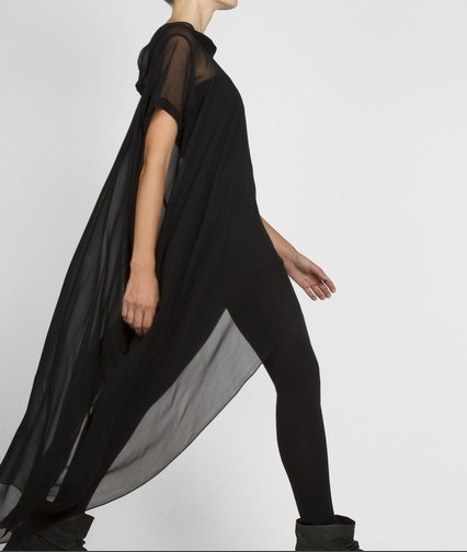 Complex Geometries Black T Shirt Dress Oak NYC Rick Owens Ann Demeulemeester | eBay