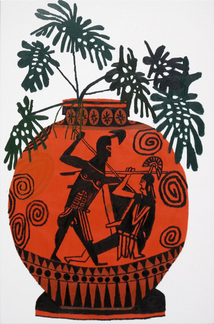 'Greek Pot With Green Leaves' (2011) By LA-based American
