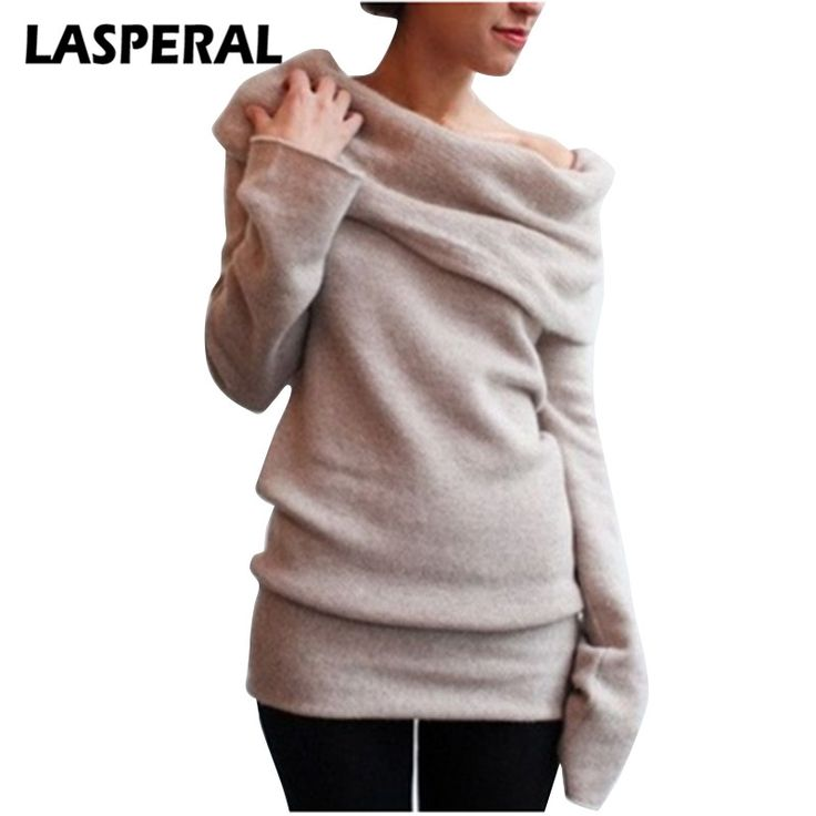 The ultimate strategy to Discount 2 Original Price US $12.40 LASPERAL Christams Sweaters Women Fashion Long Sleeve Turtleneck Knitted Sweaters Plus Size 3XL Undershirts Female Z30 your sales #pullovers_sweaters