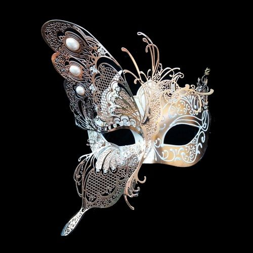 No masquerade ball is complete without some beautiful masquerade masks to go with it. Whether you are dressing up for your school prom or homecoming or just having a great mardi gras or carnival party to celebrate, you can't go wrong with our great selection of venetian masks, masquerade half masks, deluxe metal half masks or any of our full face masquerade masks. $64.59